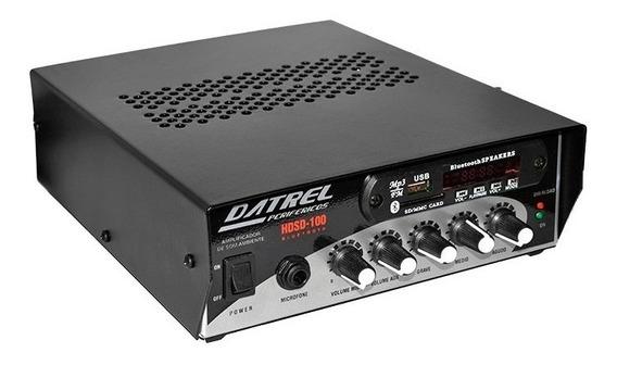 Amplificador Som Ambiente Datrel Hds-100 Usb