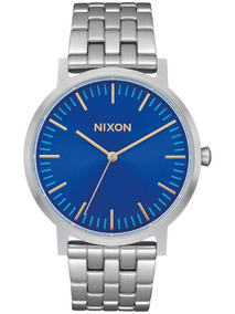Reloj Nixon Porter Deep Blue Sunray 40mm Original Hombre