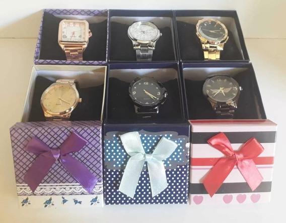 Kit Com 10 Relógios Femininos+caixa Laço Atacado Revenda