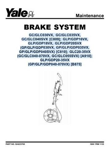 Manual Sistema De Freio Empilhadeira Yale 36pg