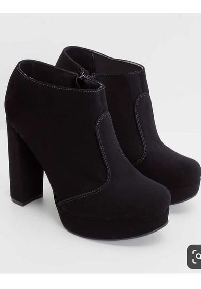 Bota Feminina Ankle Boot Satinato