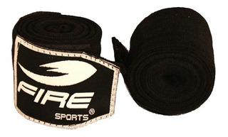 Par De Vendas Fire Sports Mma Muay Thai 500cm Boxeo Negro