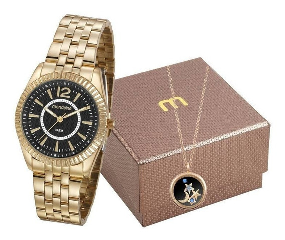 Kit Relógio Mondaine Feminino 99309lpmgde3k1