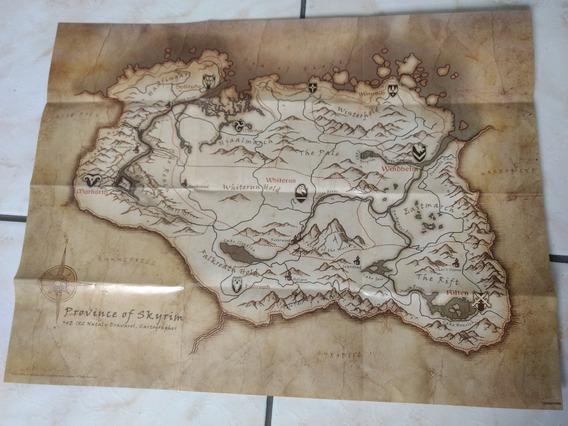 Mapa Do Jogo Skyrim (elder Scrool)