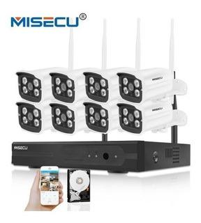 Kits De Cámaras 720p Hdmi Wifi Sistema 8 Unidades