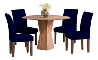 Kit 4 Capas P/ Cadeira Jantar Malha C/ Elástico Varias Cores