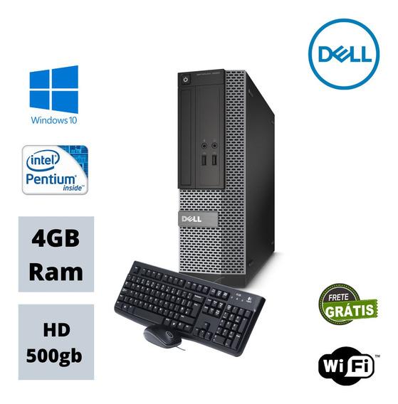 Desktop Dell 3010 Mini Dual Core 4gb Hd 500gb Win 10 Wi-fi