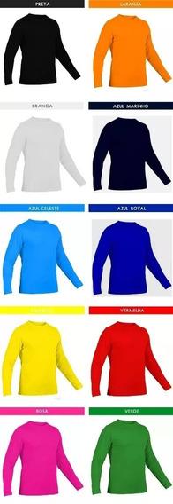 6 Camisa Manga Longa C/ Proteção Solar Uv 50+ Plus Size