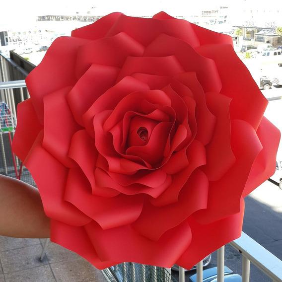 Flores Gigantes De Papel De 55 Cm
