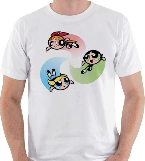 Camiseta Meninas Super Poderosas Cartoon Camisa Blusa