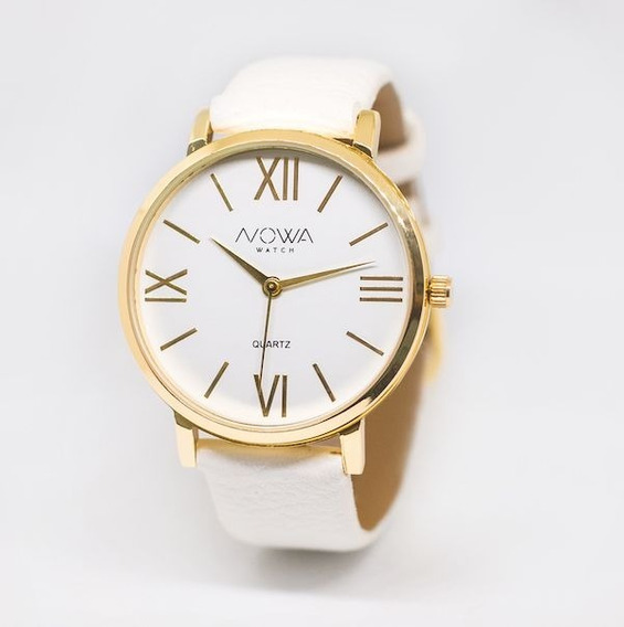 Relógio Feminino Dourado Nowa Nw1405k Original Nf + Brinde