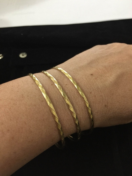 Pulseira Bracelete Ouro 18k Maciço - 14 Anos No Merc. Livre