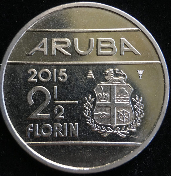 Aruba, 2-1/2 Florin, 2015. Sin Circular