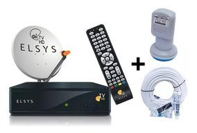 Receptor Elsys Oi Tv Hd Etrs 44 Lnb Duplo & Antena Completa