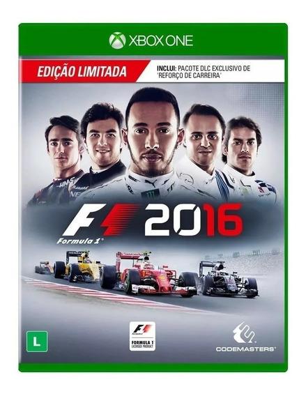 F1 2016 Xbox One Edição Limitada Mídia Física Novo Lacrado
