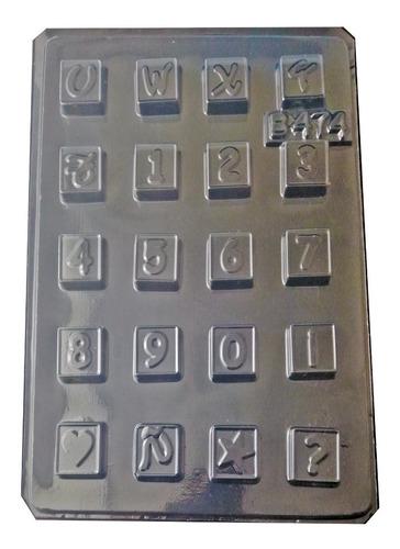 Molde Para Chocolate Abecedario Letras En Forma De Cubos