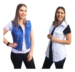 Roupas Feminina Atacado Kit Com 20 Colete Jeans