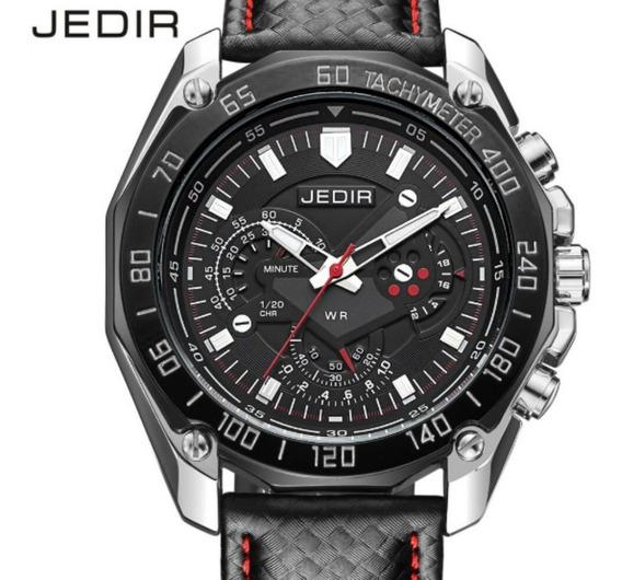 Relógio Pulso Masculino Luxo Jedir 5308 Original Quartzo