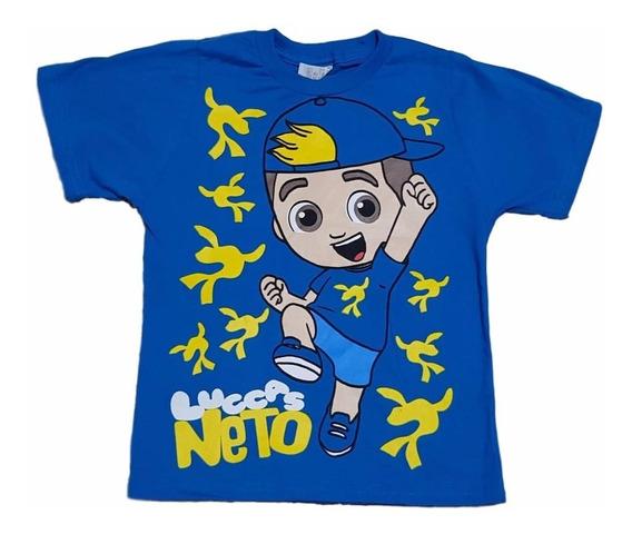 Camiseta Infantil Lucas Neto Manga Curta Lançamento