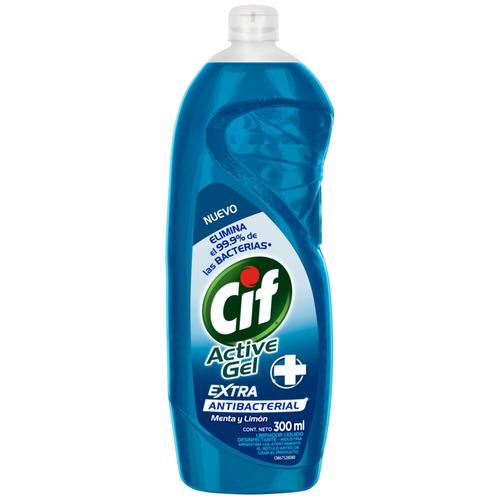 Detergente Cif Active Gel Antibacterial concentrado en botella 300ml