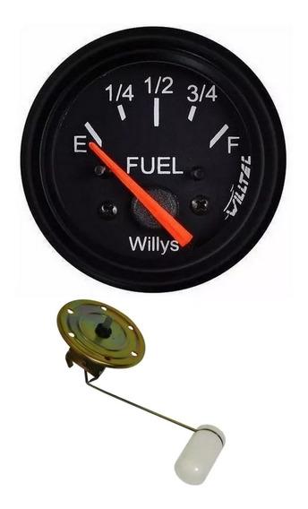 Bóia 6 Furos Jeep Willys + Indicador De Combustível Willys