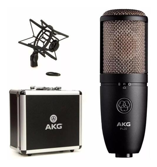 Microfone Condensador Perception Akg P420 Estudio E Ambiente