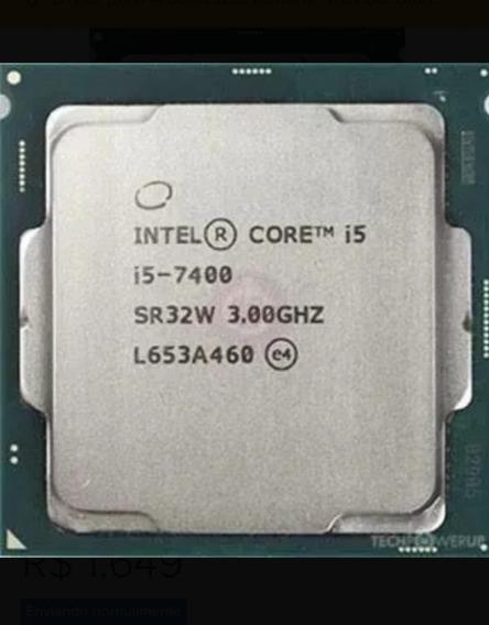 Processador Core I5 7400 3.0ghz 1151