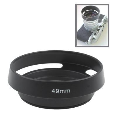 Lente Lens Hood 49 Metal Vented Para Leica Black Cwdf
