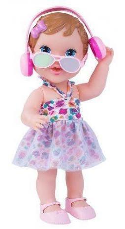 Boneca Pop Star Com Fone De Ouvido Oculos E Microfone Menina