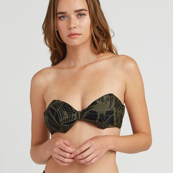 Bikini Sosten Femenino Harlo Bandeau Verde Rvca