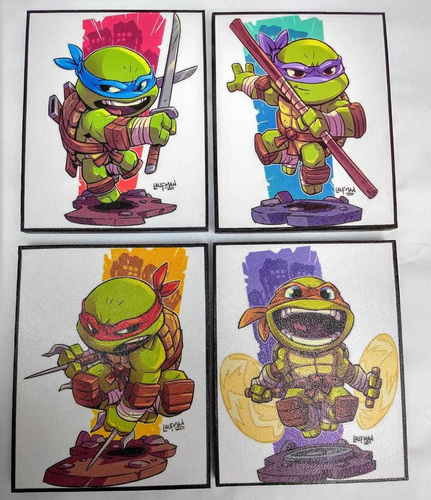 Imagen 1 de 5 de Tortugas Ninja Cuadro Decorativo,tortugas Set Cuadro Decorat