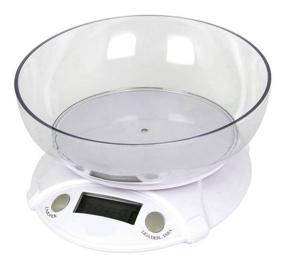Balança Digital Tigela Cozinha Até 7kg Função Tare