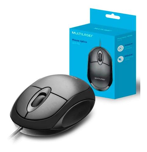 Mouse Usb Óptico Classic Preto - 1200 Dpi - 3 Anos Garantia