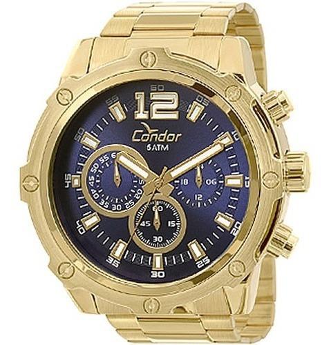 Relógio Condor Masculino Covd54ae/4a Dourado Original C/ Nf