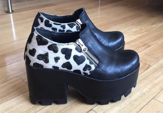 Zapatos Perugia Cuero Y Piel