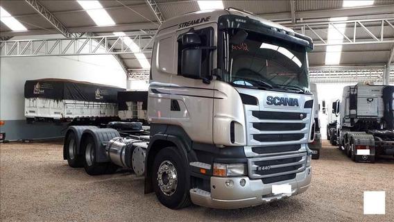 Caminhao Scania-scania 440-12/12-cavalo Traçado-6x4-prata