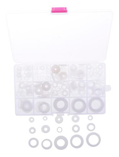Imagen 1 de 12 de 250 Pedazos Arandelas De Nylon Planas Transparentes De