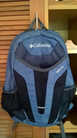 Mochila Columbia Beacon 24lts Azulgris / Rojo / Negro / Azul