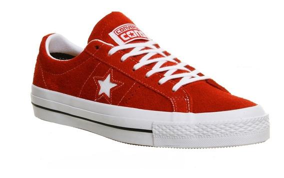 Zapatillas Converse One Star! Cuero Descarne Rojo! Lunarlon