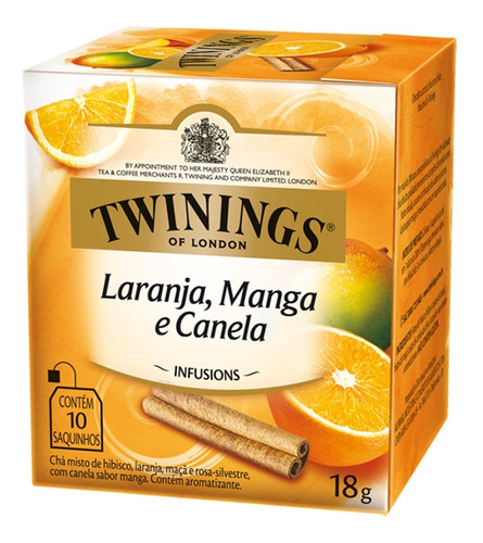 Chá Twinings Laranja, Manga E Canela 10 Sachês