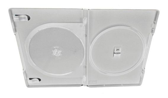 100 Box Dvd Duplo Amaray Transparente Original Dupla 2 Dvds