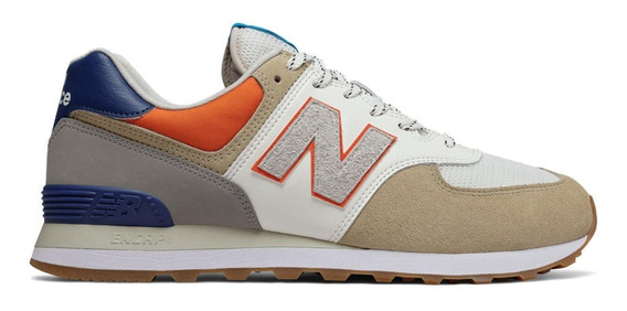 Zapatillas New Balance Ml574nft Beige/ Azul Sport Town