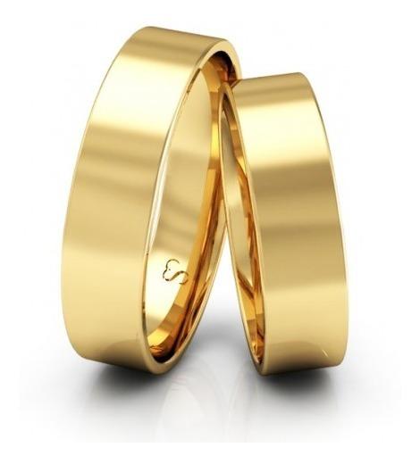Par De Alianças De Ouro 18k 6mm 8 Gramas Casamento Noivado