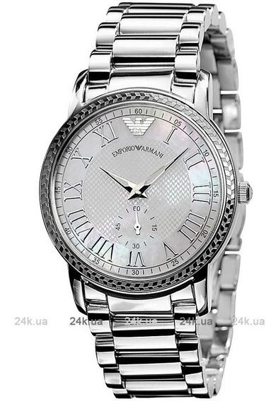 Relógio Empório Armani Ar0469 Orig Silver Mother Pearl