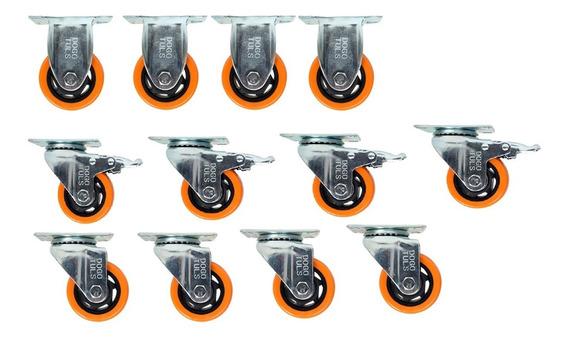 4 Rodajas Pvc Gir-freno/4 Girat /4 Fijas 2 Pulg Hc2