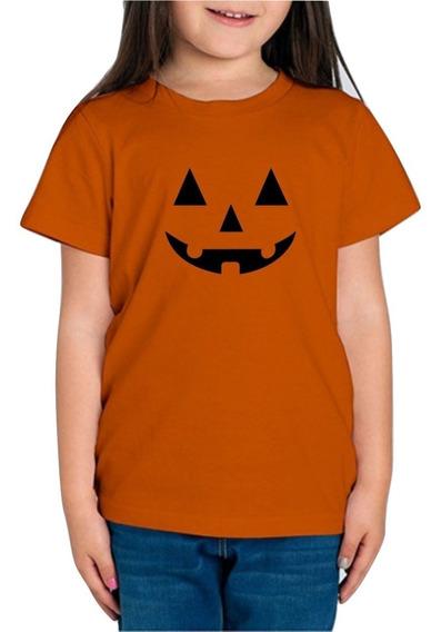 Playera Halloween Helloween Calabaza Niña 1 Pza Con Envio