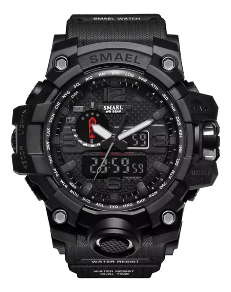 Relógio Smael 1545 Militar Shock Original Tático Militar