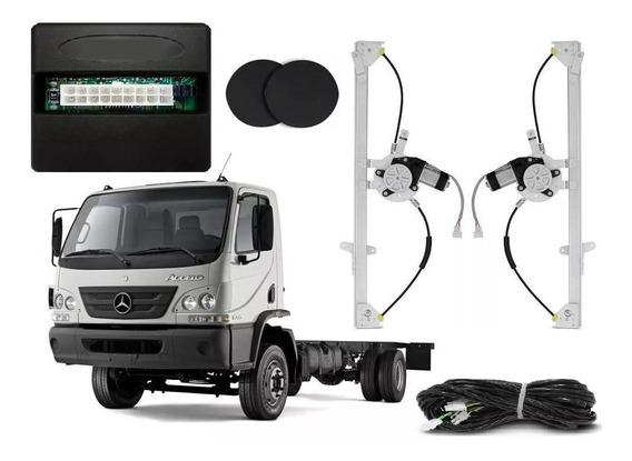 Kit Vidro Eletrico Caminhão Mb Accelo 2012 Com Antiesmagante