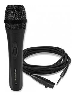 Microfono Karaoke Probass Pro-mic 500 Con Cable