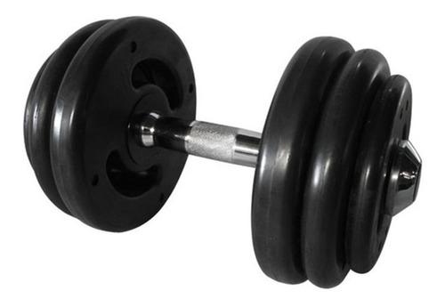 Dumbbell Injetado Com Pegada Cromada Academia Fitness 18kg
